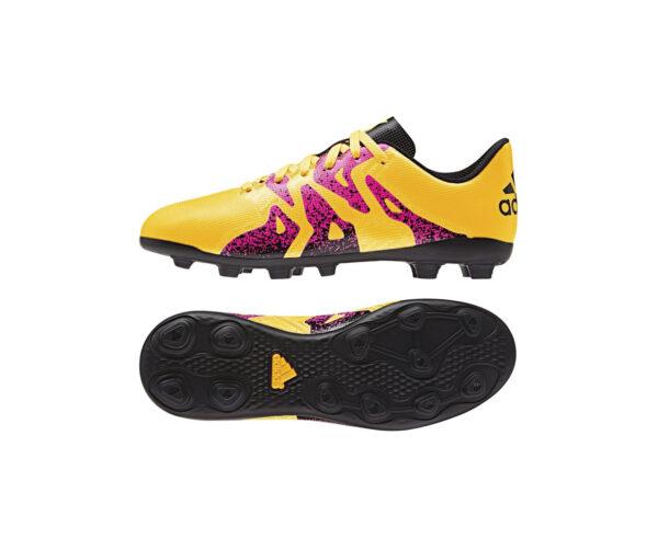Atlanta Deportes - Guayos Niños X 15 4 FXG amarillo Adidas